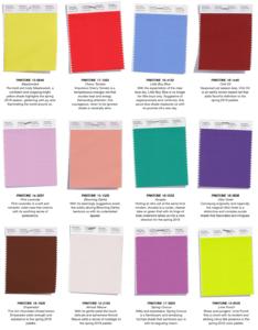 JEG Inc. Spring 2018 Popular Colors